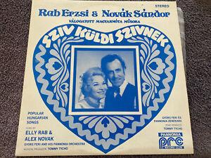Rab Erzsi & Novák Sándor Válpgatott Magyarnóta Müsora Vinyl Record LP Hungarian
