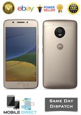 Brand New Motorola Moto G5 16GB Fine Gold DualSim 4G LTE SimFree 13MP Smartphone