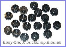 Lego 20 x Platte rund schwarz (1 x 1) - 4073 - Plate Round Black - NEU / NEW