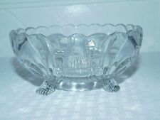 Vintage Cambridge Caprice Clear Glass Footed Bowl