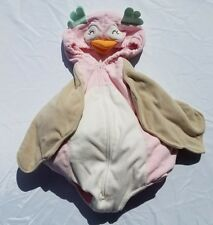 Carters Girls Costume Owl Size 18 Months Pink Tan Warm Hood Halloween