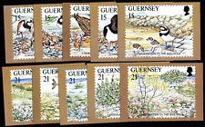 Guernsey Postkartenserie  Naturschutz auf Guernsey