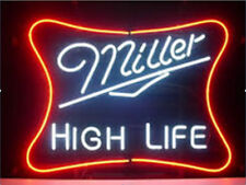 "New MILLER HIGH LIFE Logo Beer Man Cave Neon Light Sign 20""x16"""