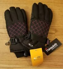 New C9 Champion * 4-7 * black & pink winter ski gloves waterproof Thinsulate