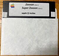 Zaxxon / Super Zaxxon / Works on all Apple II, IIe, IIc, & IIgs Computers