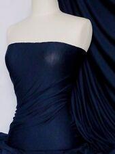 Azul Marino Viscosa Algodón Stretch Lycra material de tela