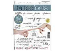 HANDMADE Fonts Tattoo Flash Design Book 64-Pages Sketch Black Color Art Supply