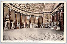 East Side of Statuary Hall U.S. Capitol Building Washington D.C. Postcard Unused
