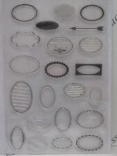 Oval Sentiment Boxes Clear Stamps 22 Designs (1838) Scrapbooking Cardmaking