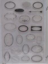 Oval sentimiento Cajas Transparente Sellos 22 Diseños (1838) Scrapbooking cardmaking
