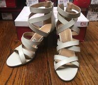 American Eagle 174338 Women's Gladiator Style Heels ZIP Back Shoes Size 6 NIB