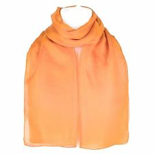 Plain Pure Silk Scarf Shawl Wrap