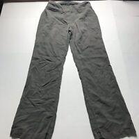 Eileen Fisher Lyocell Linen Blend Gray Boot Cut Pants Size 6 a470