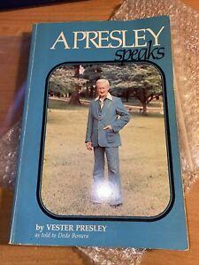 """BUCH: """"A Presley speaks by Vester Presley"""" (original handsigniert) / Elvis Presl"""