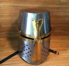 Medieval 18 Gauge Steel Armor Knight Helmet of Armour Steel Helmet Knight TB94