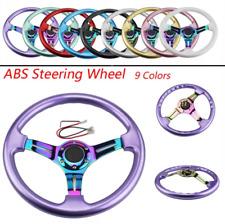 350mm ABS Steering Wheel Neo Chrome Spoke White For MOMO Hub OMP hub Drifting