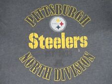 PITTSBURGH STEELERS NORTH DIVISION - XL CHARCOAL GRAY T-SHIRT J1296