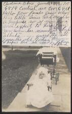 REAL PHOTO Postcard CLEVELAND Ohio Baby SHYLO ALBERTA MILLER KAUFMAN view 1907