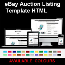 Black eBay Auction Listing Template Responsive Image Gallery 2018 HTML HTTPS
