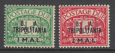 Great Britain, Tripolitania, Sc J6, J7 MLH. 1950 Postage Dues, first 2 values