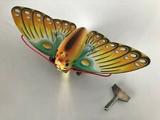 Vintage Mechanical Somersaulting Butterfly w/ Key