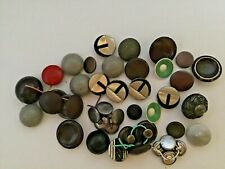 Vintage  metal paint buttons mixed lot / some antique in between this lot.
