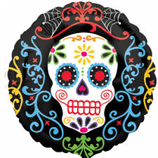 Halloween Day of the dead Sugar skull Lamina Elio Palloncino GRATIS P&P