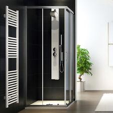 Box cabina doccia 75x75 angolare quadrato in cristallo apertura 2ante scorrevoli