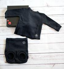 Conjunto de camiseta y ranita en negro de QUERABOO -Primera puesta (canastilla)