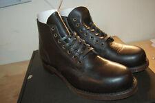 NIB FRYE Mens Prison Combat Boot $400 Boots Mens 10.5 M Black Made In USA 84149