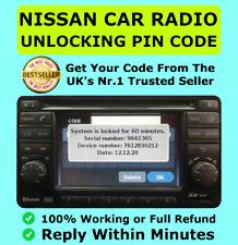 Nissan Radio Code Car Codes Micra Note Qashqai Almera Juke Connect FAST Unlock