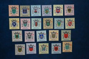 (G2) PORTUGAL Angola 1963, series Coats of Arms**/MNH