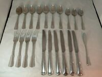 21 Pieces International China Stainless Flatware