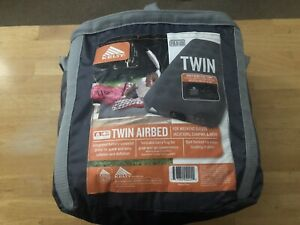 KELTY Twin Air Bed Mattress w/Carry Bag Grab-and-Go Built-In Battery Pump HTF
