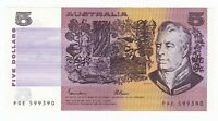 BN21) Australia 1985 $5 Johnston/Fraser Renniks 209a, uncirculated