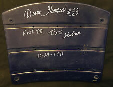 Duane Thomas With 1st TD Texas Stadium 10-24-71  Inscription Dallas Cowboys