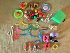 53 Items1970's -/+Vintage Doll accessories Barbie-Other Food,Hanger,Shoes,Hair