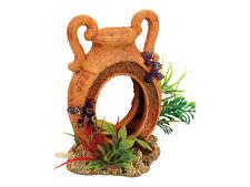 Pot avec airstone & plantes fish tank barbotage pot grotte Aquarium