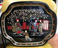 THE METAL TRAY MANUFACTURING CO. VTG. MID CENTURY Oriental JAPANESE SCENE