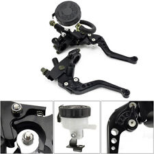 1 Pair Motorcycle 7/8'' Front Brake Clutch Master Cylinder Reservoir Levers Nice