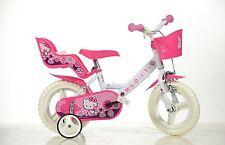 12 Zoll Hello Kitty Kinderfahrrad Fahrrad Spielrad Kinderrad Bike DINO-BIKE