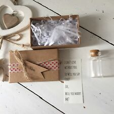 Handmade And Personalised Message In A Bottle Gift Christmas Valentines Proposal