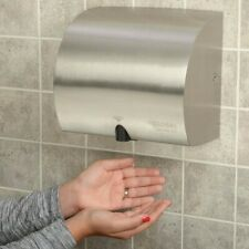 GLOBAL High Velocity Automatic Wall Hand Dryer Stainless Steel 120V NEW