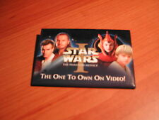 "Star Wars I Phantom Menace ""The One To Own On Video!"" Pin Button"