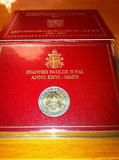 BLISTER 2 EURO VATICAN 2004 75EME ANNIVERSAIRE INSTITUTION COMMEMORATIVE NEUF