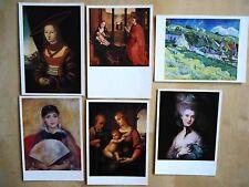 6x Russische Künstlerkarte Russland Kunst Postcards Sowjetunion Kunst Artist