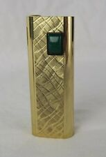 Vintage Gas Luxury Electronic Lighter NOBLE EC 5 Gold Tone - tested: WORKS!