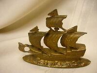 "Vintage Cast Metal Ship Windsor Canada 4"" X 3"" Canada Souvenir Sailing Ship"