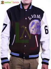 Beverly Hill Cop Detroit Lions Leather Sleeves Jacket