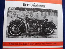 INDIAN  MOTORCYCLE 4 CYLINDER NEWS MAGAZINE 15th ANNIVERSARY ISSUE WINTER 1976